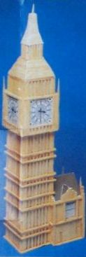matchstick big ben model kit