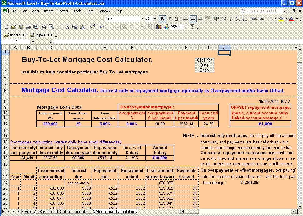mortgage cost calculator picture